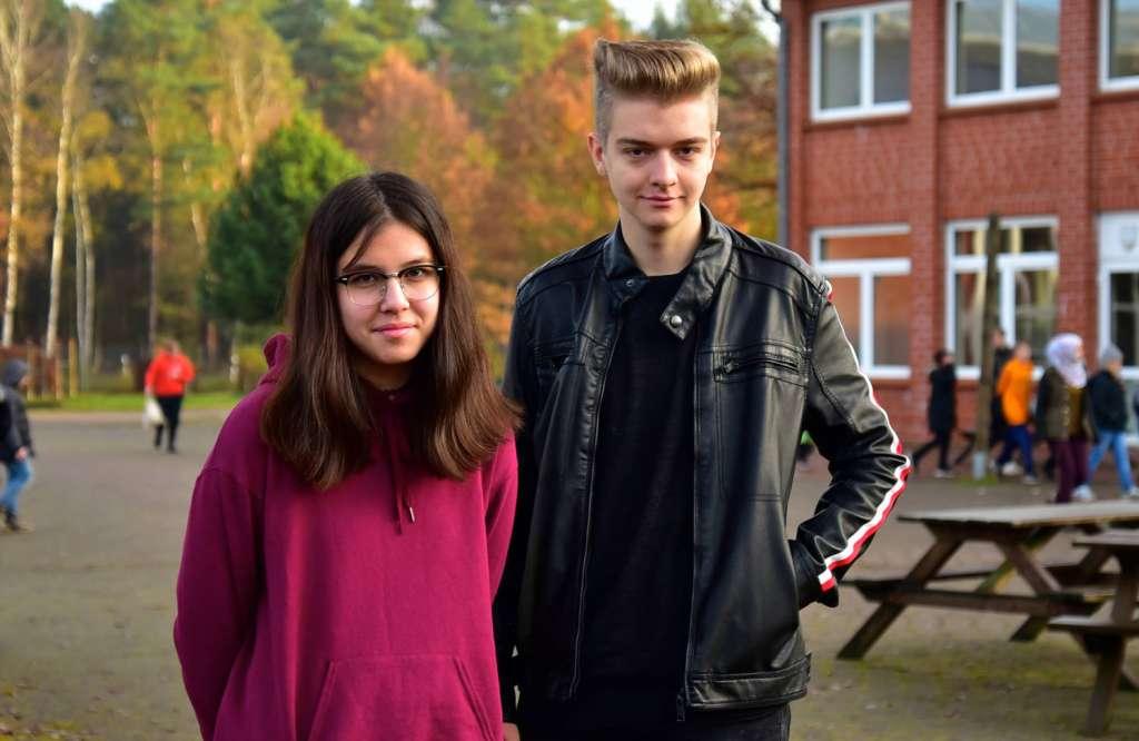(v.l.) Sydney Voigt und Dominick Rohmann